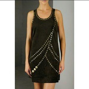 New! Suede Racerback Mini Dress
