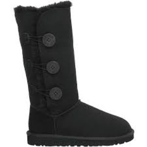 Black 3 button UGG boots