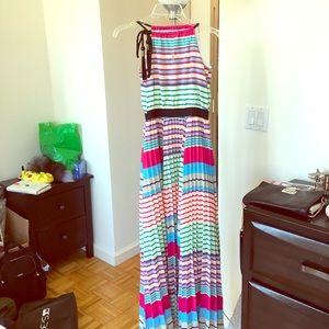 Chloe striped maxi dress