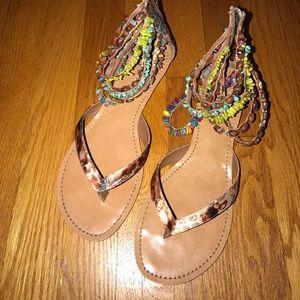 Bakers Jewel Multi bead sandals size 8.5
