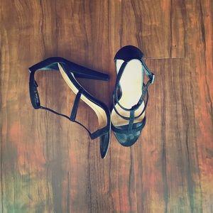 ASOS caged black sandals