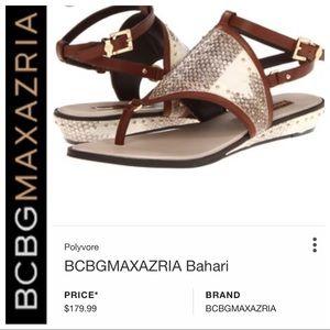 💕SALE💕 BCBGMaxAzria Bahari Gold Brown Sandals