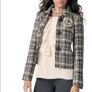 CAbi Plaid Check's Wool Blend Coat