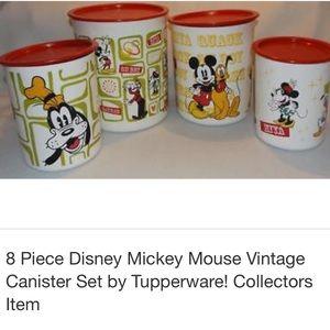 Vintage Disney Mickey Tupperware Cannisters