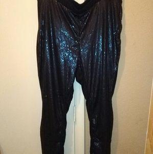 Torrid sequins front solid back black joggers