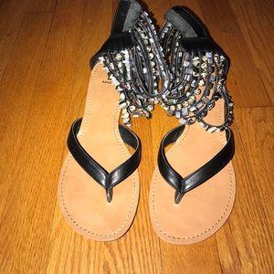 Bakers black jewel sandals size 8.5