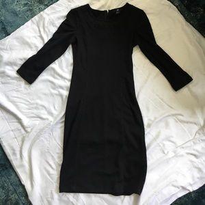 Black 3/4 sleeve mini dress