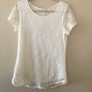 White Tee Shirt by Leo & Nicole
