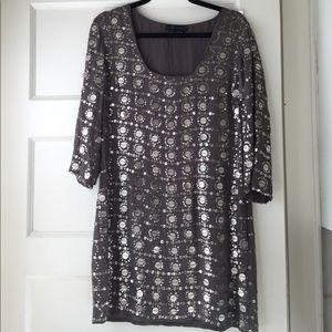 Sheri Bodell Silk dress size L.