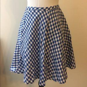 EUC Blue Gingham Circle Skirt size 12