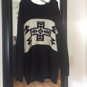 FOREVER21 oversized aztec knit sweater