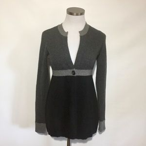 Vince Gray Black Cashmere Single Button Sweater