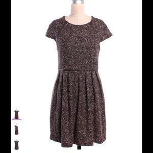 Tibi New York tweed and leather dress  pockets