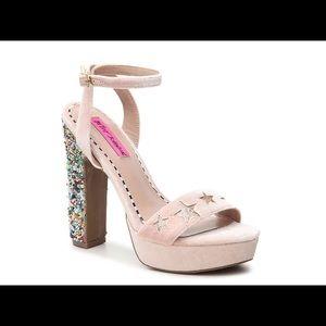 BETSEY JOHNSON Lolas Velvet Platform Heels
