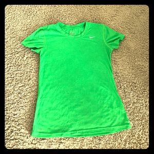 Green Dri-fit Nike Shortsleeve