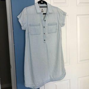 Chambray short sleeve dress