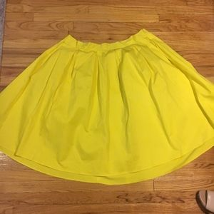 Eloquii Yellow Pleated Midi Skirt
