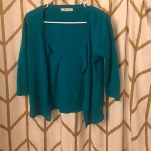 Forever 21 teal cardigan size medium
