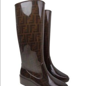 footlocker pictures online Fendi Logo Rain Boots best sale cheap online many kinds of cheap price outlet latest where to buy 50m1l