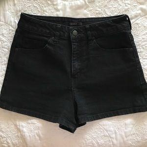 Forever 21 High Waisted Black Denim Shorts