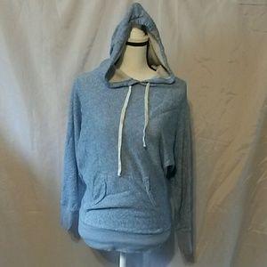 J. Crew blue marbled hoodie XS