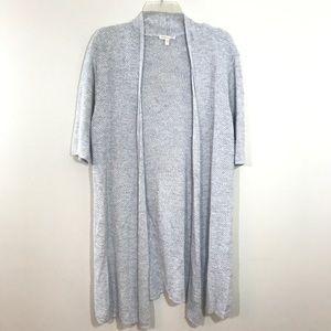 EILEEN FISHER | Gray Linen Blend Cardigan Sweater