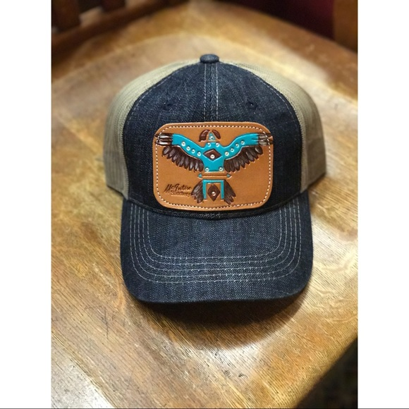 f7dc47386c6 NWT Thunderbird leather patch cap. Made in 🇨🇱