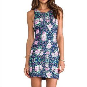 Multi color zip back dress