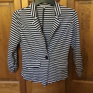 Black/white striped blazer from Charlotte Russe