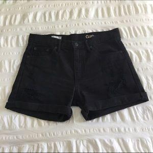 Gap Distressed Black Denim Shorts