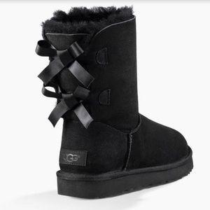 UGG Bailey Bow II Black Snow Winter Boots