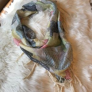 Multi color silk scarf