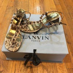 Lanvin chunky sandal in snake