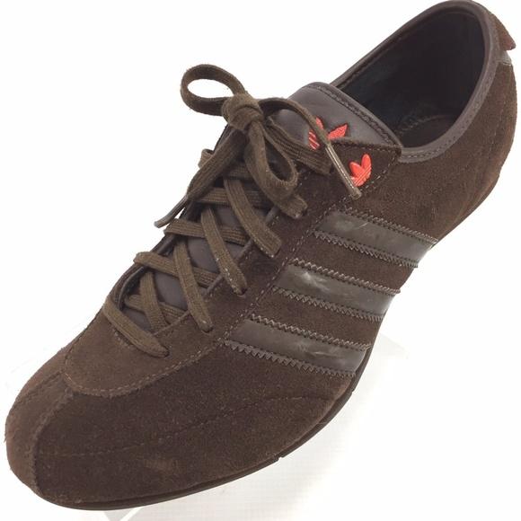 Adidas retrò marrone scamosciato scarpe 75 trifoglio poshmark