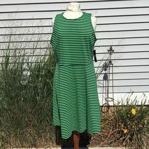 NY & Company Striped Sleeveless Dress NWT