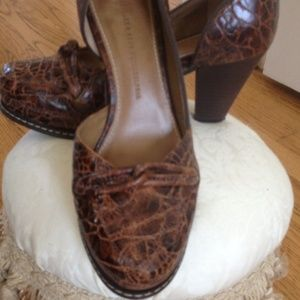 Anthropologie pump by Schuler & Sons.