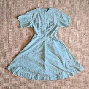Mad Men 1950's Vintage Mint Dress with Pockets