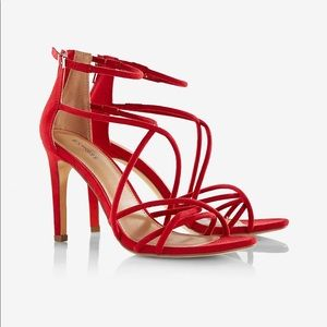 SEXY red strapped heels!