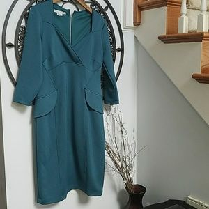 Maggy London jade green dress