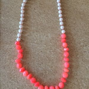 Kate Spade orange and pearl necklace