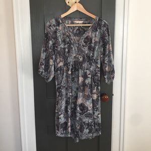 Easygoing Rebecca Taylor silk watercolor dress s