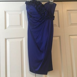 Blue Homecoming Dress. Size 2. Worn once.