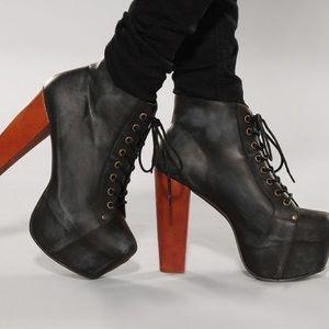 Jeffrey Campbell Black Lita Boots
