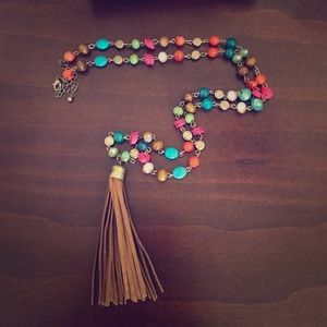 Colorful target necklace