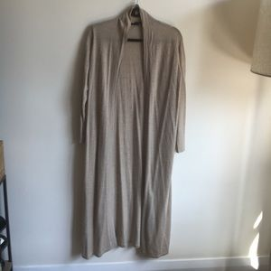 Eileen fisher he's there'd oatmeal duster sweater
