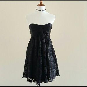 Express Black Strapless Dress