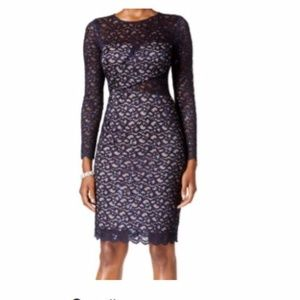 NWT Betsy & Adam Sequin Lace Sheath Dress