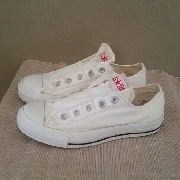 bfe9150540dc Converse Shoes - White Converse sneakers no lace slip on 6