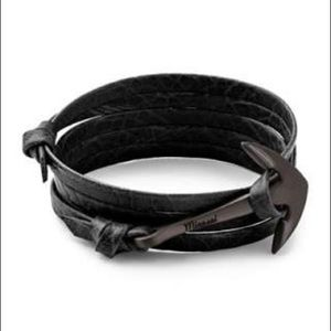 New Miansai Leather Anchor Bracelet with Tags