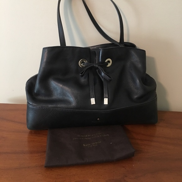 75% off kate spade Handbags - Kate Spade Black Leather Over ...